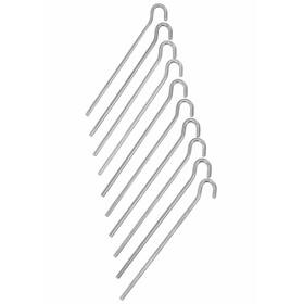 CAMPZ Erdnagel glatt 18cm silber